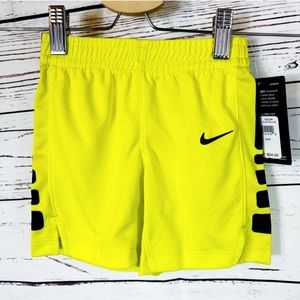 NIKE Pro-Fit Neon Yellow & Black Athletic Shorts